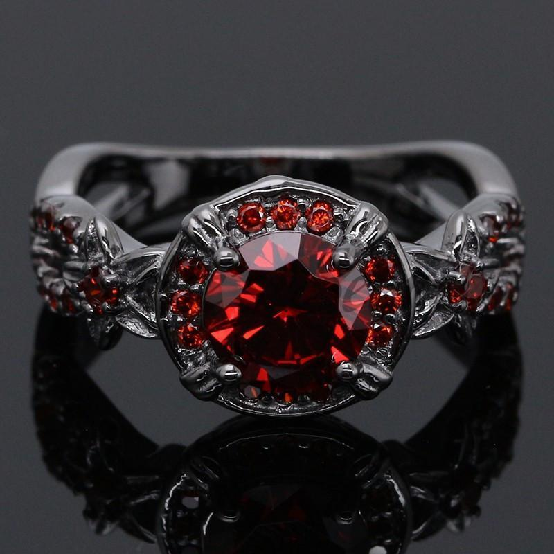 Ancient Gothic Ruby Ring - GoPositivo