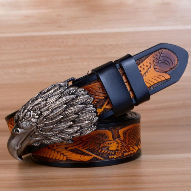Eagle Biker Genuine Leather Belt - GoPositivo