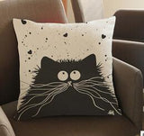 Whiskers Cat Pillowcase - GoPositivo
