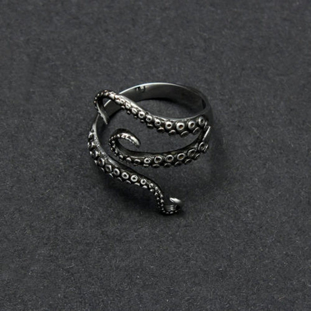 Titanium steel Gothic Octopus Tentacles Open finger Ring - GoPositivo