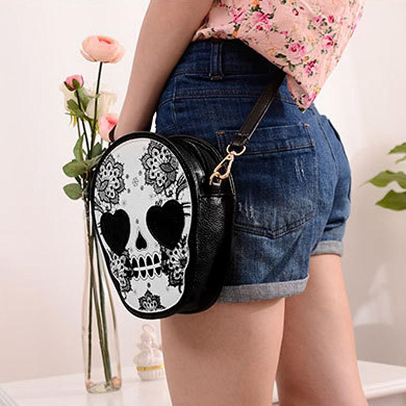 Skull Satchel / Purse Handbag - GoPositivo
