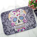Sugar Skull Bathroom Mat - GoPositivo