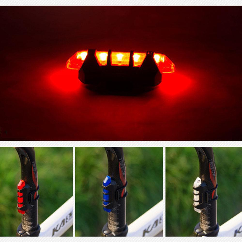 Rechargable LED 4 Mode Safety Warning Bicycle Rear Lamp - GoPositivo