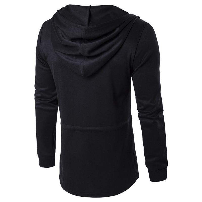Hooded Slim Fit Long Sleeve Jacket - GoPositivo