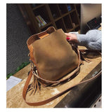 Women's Stylish Bucket Bag - GoPositivo