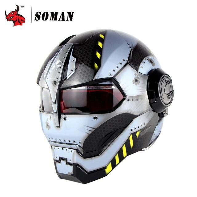 Full Face Covering Helmet TRON Inspired - GoPositivo