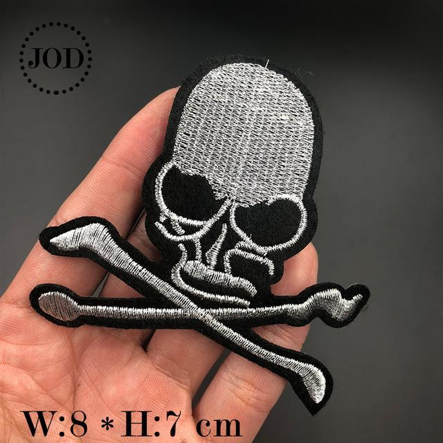 Embroidered Skull Iron Patches - GoPositivo