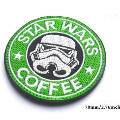 Guns & Coffee Starbucks Army Patches - GoPositivo