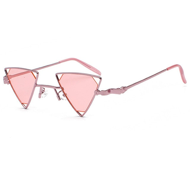 Steampunk Triangle Women Vintage Metal Frame Sunglasses - GoPositivo