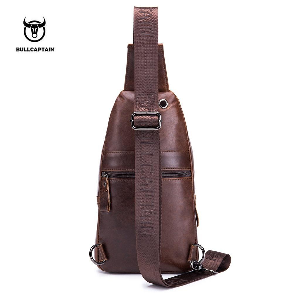 Men's Genuine Leather Cowhide Shoulder Bag - GoPositivo