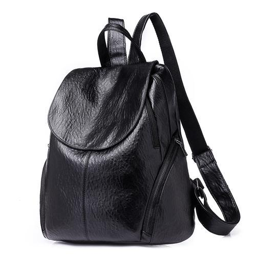 Leather Korean Women  Rucksack  Student  Bag - GoPositivo