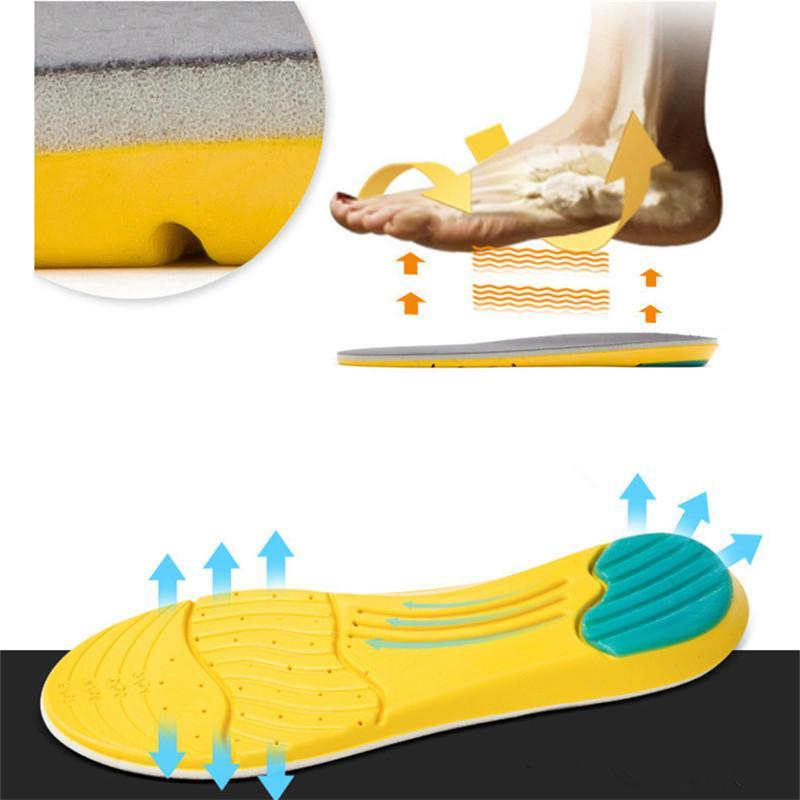 1 Pair Super Memory Foam Orthotic Arch Insert Insoles - GoPositivo