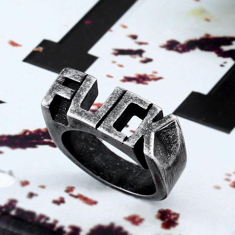 The F Word Ring ( Unisex ) - GoPositivo