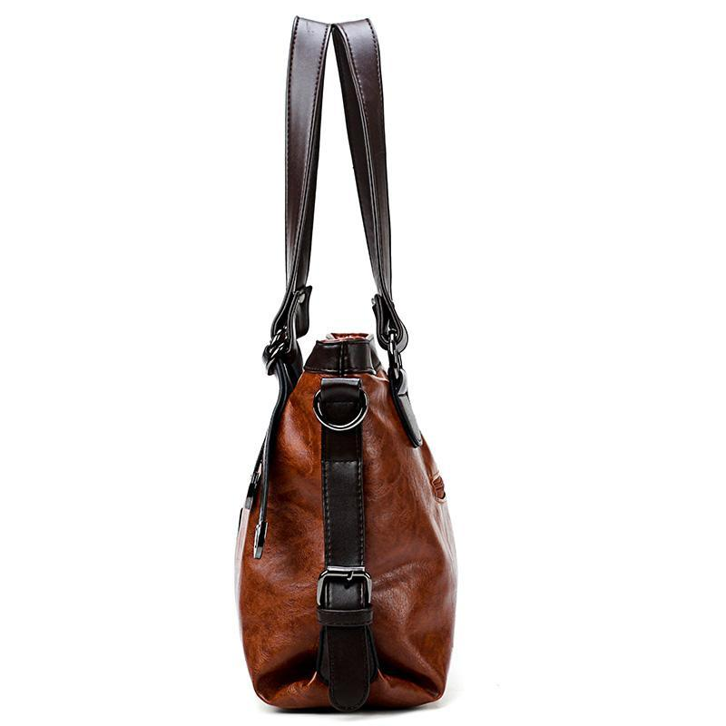 Women's Genuine Leather Tote Handbag for Bikers - GoPositivo