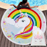 Fashion Unicorn Style Beach Towel with Drawstring Bag Sport Yoga Blanket - GoPositivo