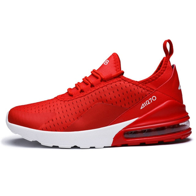 Air Sole Breathable Mesh Lace-up Outdoor Jogging Fitness Shoes - GoPositivo