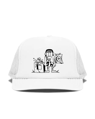 Canary Yellow x Caveman 2E [White] Cap