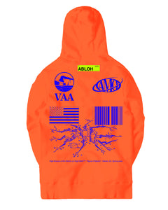 Canary Yellow x FOS VAA + AMO 4B [Fluorescent Orange] Hoodie