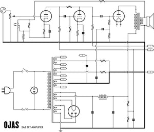 Ojas 2A3 Single End Triode Power Amplifier