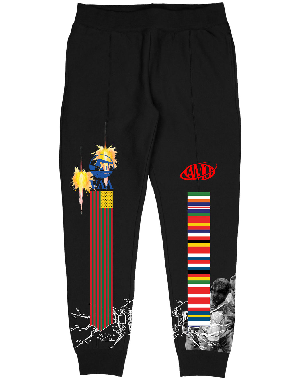 Canary Yellow x Figures of Speech Culture Wall 5A [Black] Sweat Pants