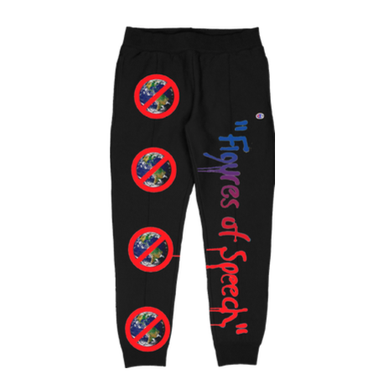 Cali Dewitt X Virgil Abloh for FOS Atlanta [Black] heavyweight Sweat Pants 5B