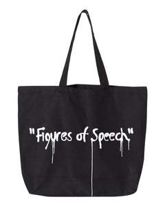 Canary Yellow x Figures of Speech 1D [Black] Tote Bag