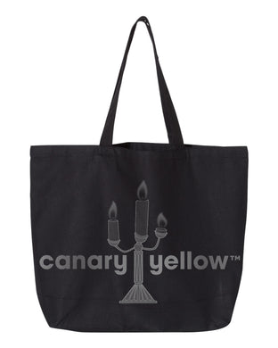 Canary Yellow 1B [Black] Tote Bag