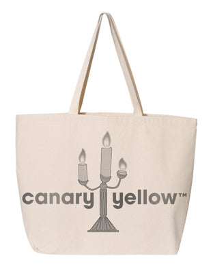 Canary Yellow 1A [White] Tote Bag