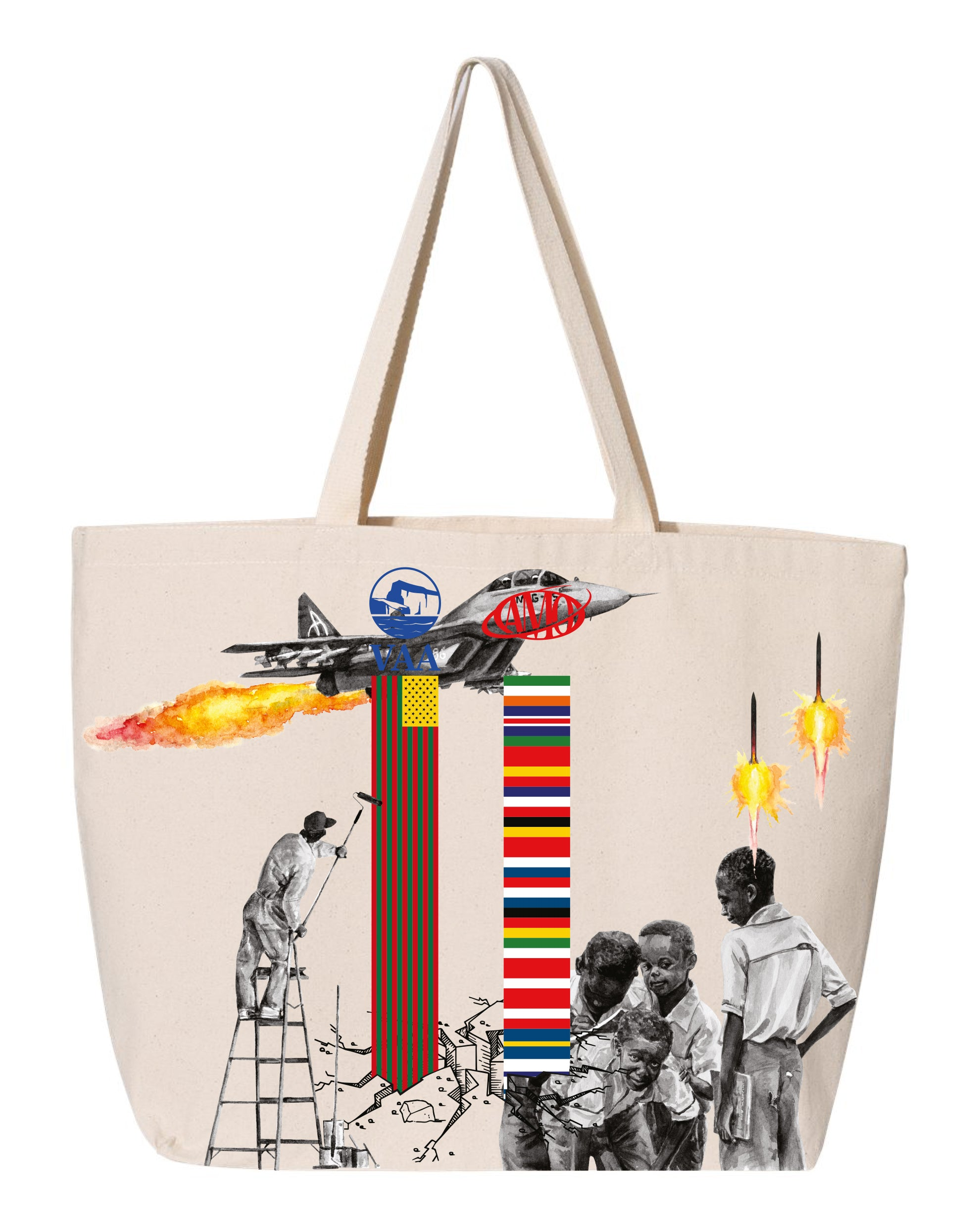 Canary Yellow x Figures of Speech 1C [White] Tote Bag