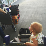 Luggage and a baby