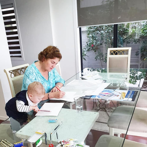 Julie Le Cornu with grandson Bodhi