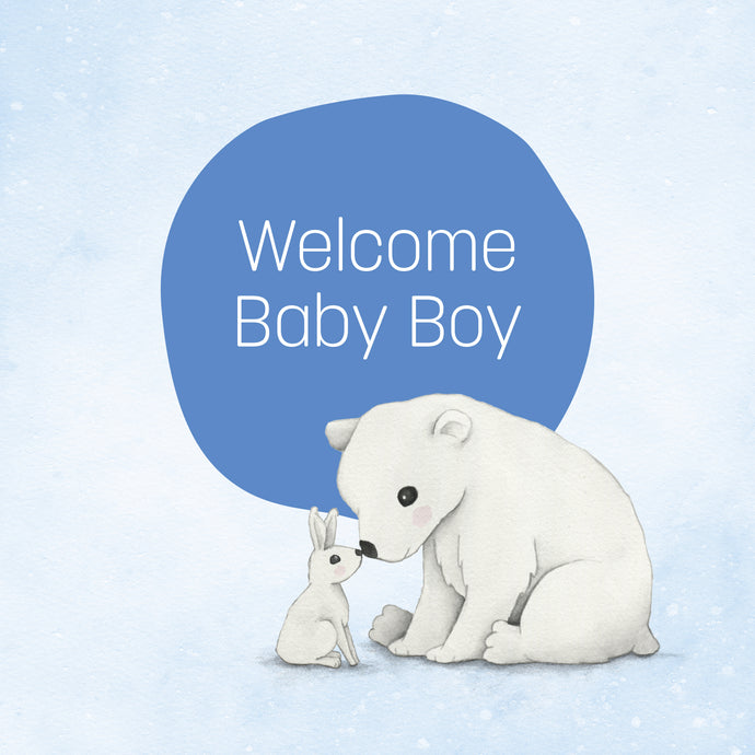Boy Snow Animals - Greeting Card