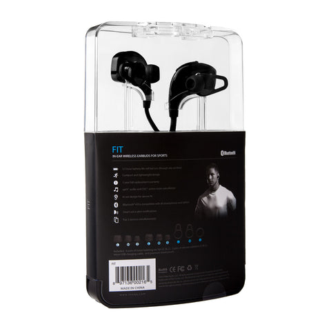 Tenqa FIT Wireless Earbuds for Sports Packaging Back