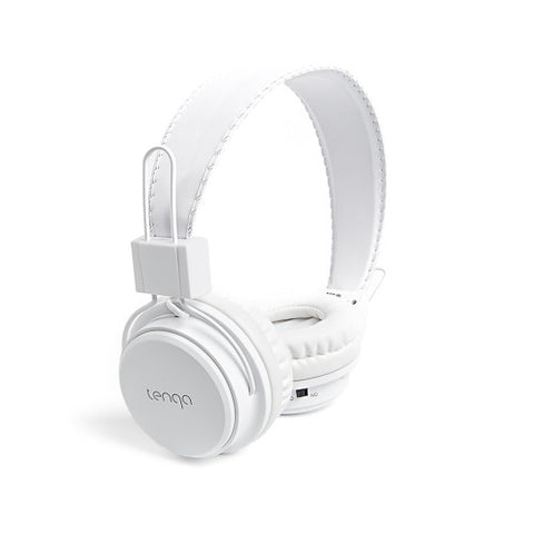 Tenqa On-Ear Wireless Bluetooth Headphones-White1