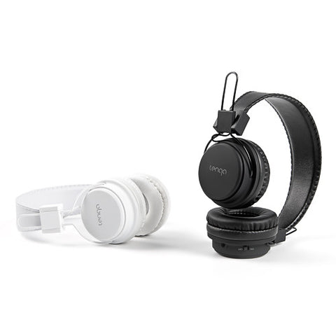 Tenqa On-Ear Wireless Bluetooth Headphones-Black & White