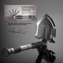 Load image into Gallery viewer, Annihilate F-A3 Tactical Shovel - Advanced Folding, Multi-Tool with One Button Military Shovelhead for Offroading Camping Hiking or Emergency - by Zune Lotoo - thesmartcamping.com