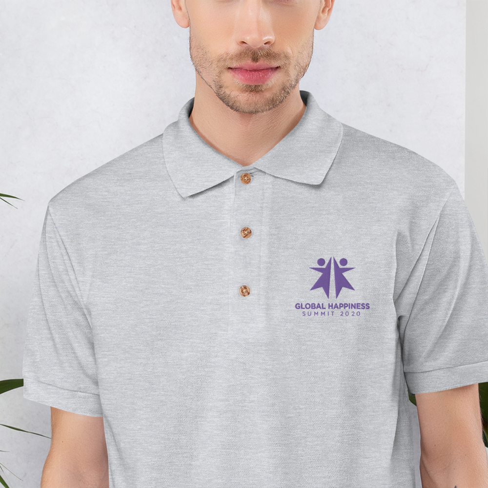 HNP - Global Happiness Summit - Embroidered Polo Shirt