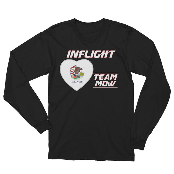 SWA - InFlight – Team MDW Long Sleeve Men's Tee Shirt
