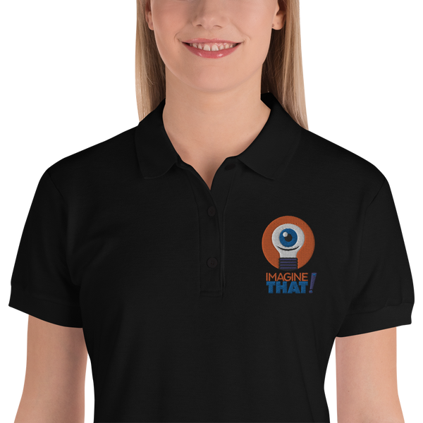Imagine That! Embroidered Women's Polo Shirt