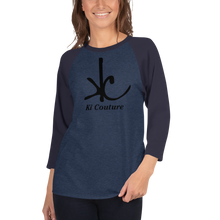 Load image into Gallery viewer, Ki Couture - 3/4 Sleeve Raglan Tee Shirt