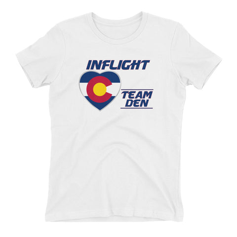 SWA - InFlight - Team DEN Women's Boyfriend tee