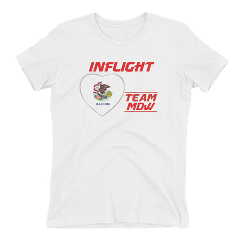 SWA - InFlight - Team MDW Women's Boyfriend tee