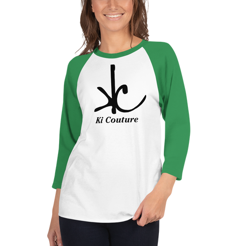 Ki Couture - 3/4 Sleeve Raglan Tee Shirt