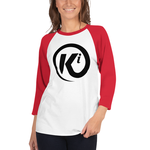 Eye Am Ki - 3/4 Sleeve Raglan Tee Shirt