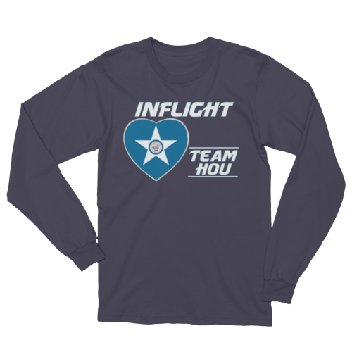 SWA - InFlight – Team HOU Long Sleeve Men's Tee Shirt