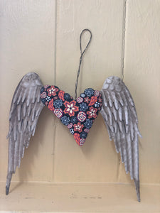 Tropical Heart with Wings for Wall