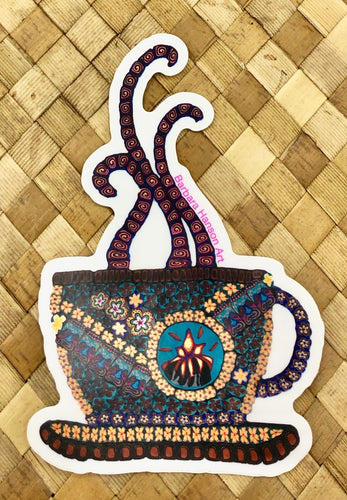 Kona Coffee Cup Sticker