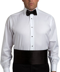 Black Satin Self-tie Bow Tie & Cummerbund Set