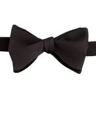 Black Faille Self-tie Bow Tie & Cummerbund Set