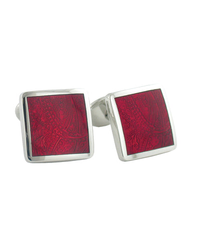 Sterling Silver Paisley Wine Cufflinks